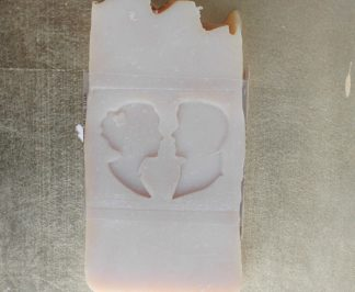 Bride and Groom soap, Bergamot and Lemon scented. The perfect wedding gift for the Bride and Groom! Made by Northanger Soapworks