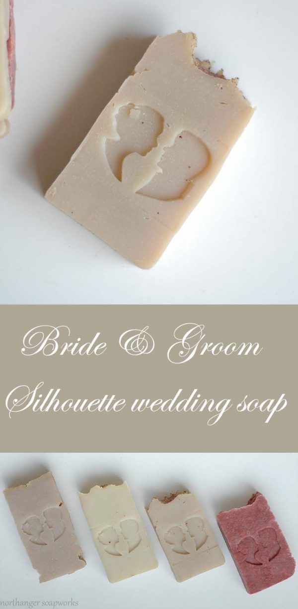 Bride and Groom Silhouette Wedding Soap. This bar soap is perfect for wedding gifts, favors, or showers! Ready to go and inspired by #JaneAusten. Made by Northanger Soapworks. #weddingplanning