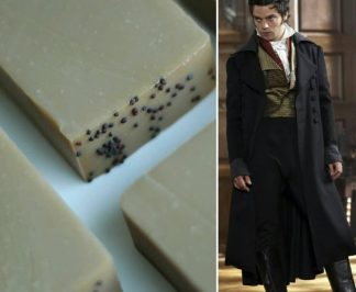 Willoughby from Sense and Sensibility 2008 and Scoundrel Bar soap, by Northanger Soapworks