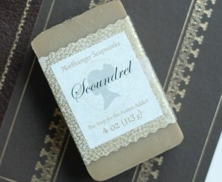 Scoundrel bar soap, inspired by Willoughby of Sense and Sensibility, by Jane Austen