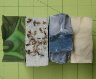 4 bars of soap, by Northanger Soapworks
