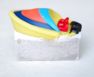 This Persuasion inspired soap has toy boats embedded on top for lots of fun in the tub! Easily removed for bath time, this is a wonderful Jane Austen gift for the child in your life.