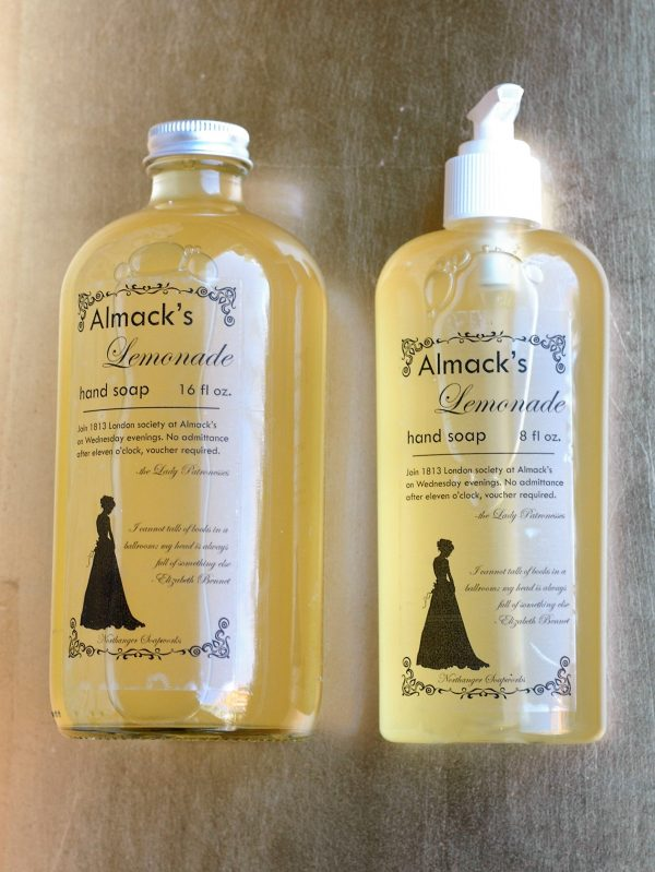 This lemon scented hand soap is surfactant free and liquid sunshine, so fresh and uplifting. Suitable for sensitive skin, you can't go wrong with this soap. The perfect Jane Austen gift for a Lady.