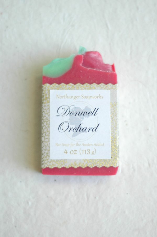 Go apple picking at Donwell Orchard with this Jane Austen inspired soap bar. The perfect Jane Austen gift for a Lady.