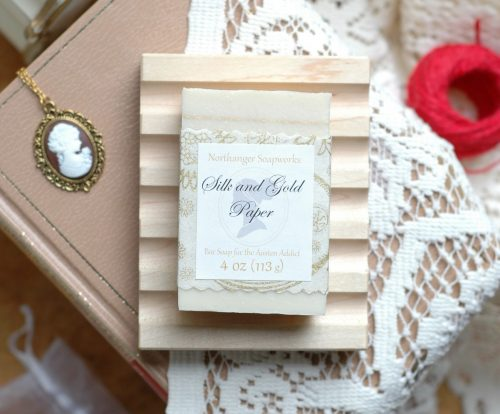 Silky and golden and Persuasion inspired, this festive scented soap is an indulgence perfect for the holidays. Would make a lovely Jane Austen gift for a Lady.