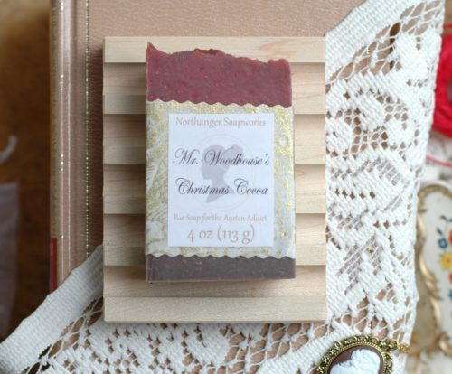 This Christmas soap is so chocolatey that even Mr. Woodhouse can't say no. A perfect Jane Austen gift for a Lady.