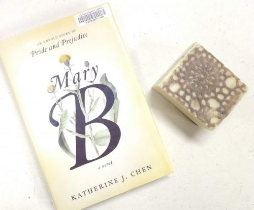 A Mary B book review, a novel by Katherine J. Chen, with Mary Bennet bar soap. Both are inspired by Mary Bennet, and each has its own story. By a Lady Soapmaker