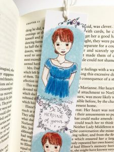 Elizabeth Bennet Bookmark by Carrot Top Paper Shop on etsy