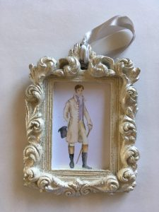 Mr. Darcy Christmas ornament, by Mashalaurence etsy shop