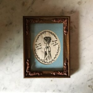 Embroidered Sense and Sensibility Frame, by EttinMoor on etsy