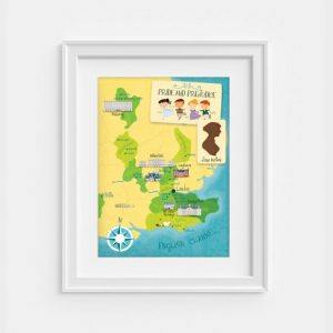 Pride and Prejudice map, by Pemberley Pond on etsy