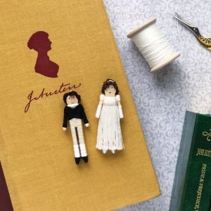 Mr. Darcy and Elizabeth Worry dolls by houseofworrydolls on etsy