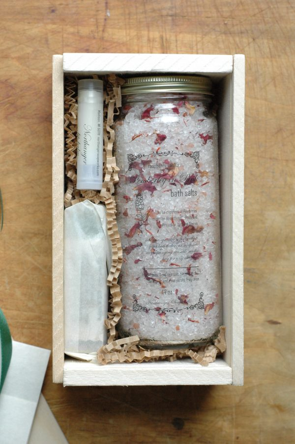 Design your own Soap and Bath Salts gift box with the high quality products from Northanger Soapworks. A unique gift you can't find anywhere else. For the Jane Austen bibliophile or discerning lady.