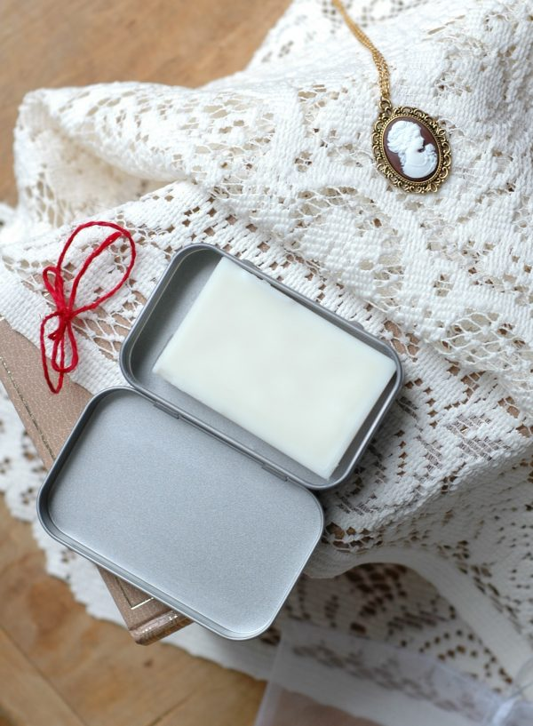 This solid lotion bar is perfect for your Jane Austen travels this winter. Keep it in it's case in your reticule and rub it in whenever your skin is feeling a bit dry! The perfect gift for a Lady.