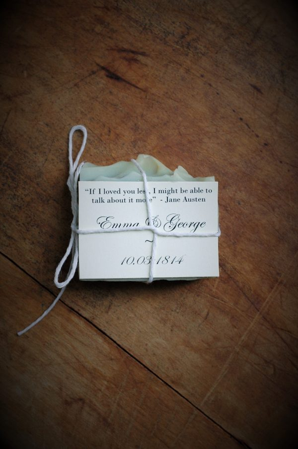 Wedding Silhouette Soap Favors for an elegant touch. Wow your guests with these custom cut favors with fragrance and color of your choice. #janeausten #weddingfavors #wedding