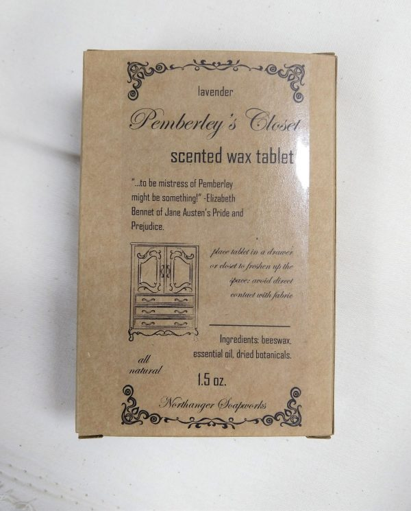 Our Pemberley's Closet scented sachets are perfect to freshen up your closet and drawers. The perfect Jane Austen gift for a Lady. Pure lavender essential oil, beeswax, and herbs make this a very special addition to your closet.