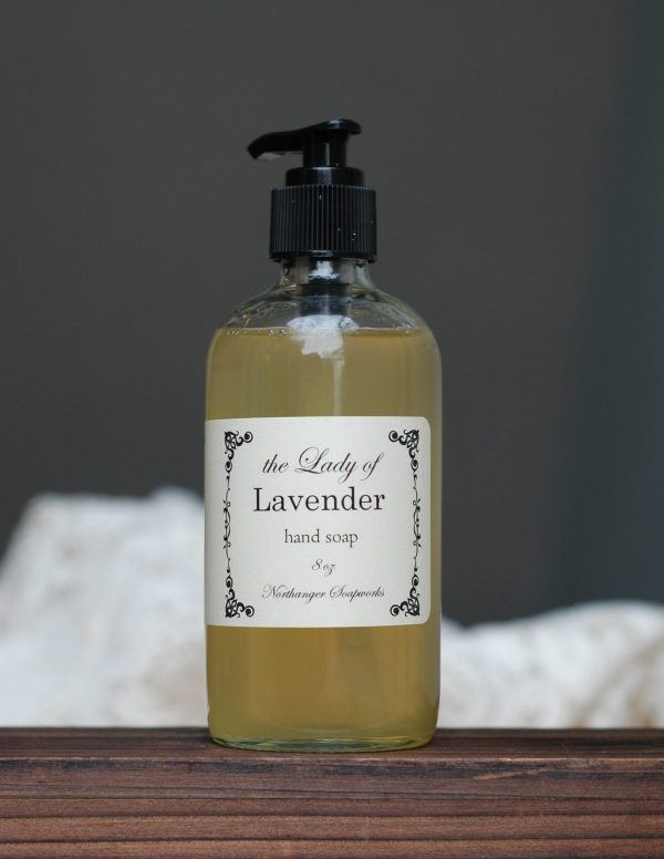Elegant hand soap inspired by titles of nobility used in Jane Austen's day. The perfect Jane Austen gift for a Lady. Our surfactant free handsoap is handmade by Northanger Soapworks