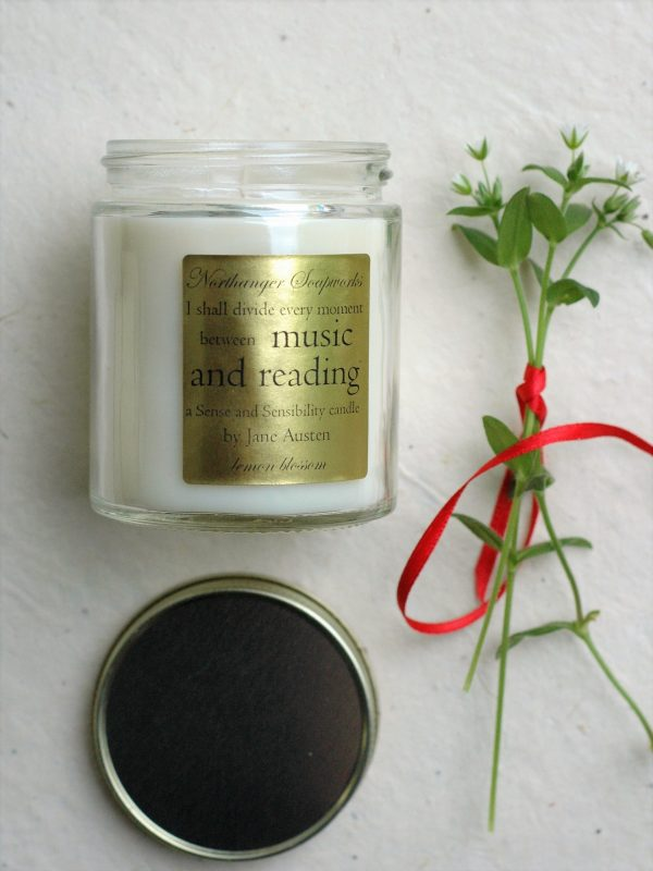 I shall divide my time between music and reading, says Marianne Dashwood of Jane Austen's Sense and sensibility. Scented with fresh lemons and blossoms, it is as captivating and fresh as Marianne herself. The perfect Jane Austen gift for a lady.