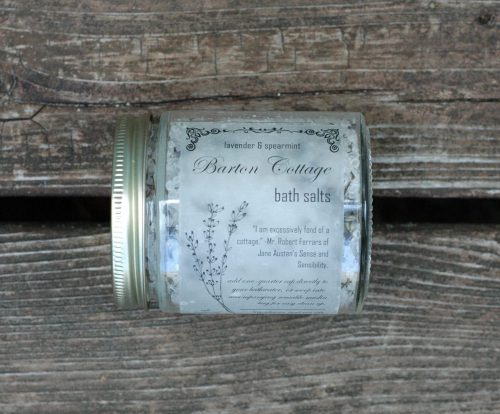 Barton Cottage is the perfect spot to gather herbs for a soothing bath. These lavender and spearmint bath salts are just what you need after a long day. The perfect Jane Austen gift for a Lady.