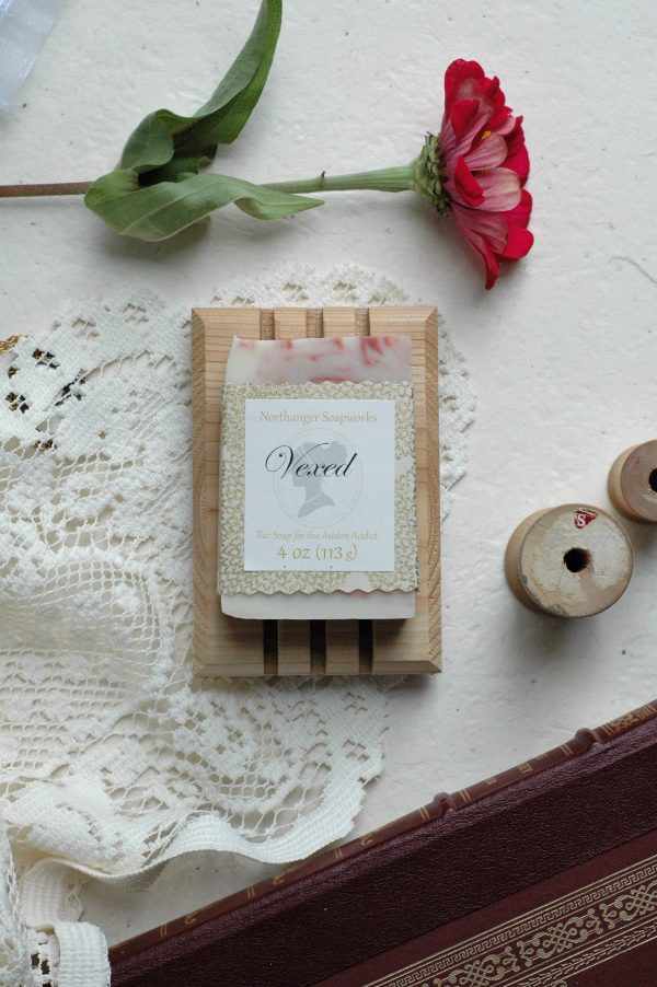 """""""You take delight in vexing me. You have no compassion for my poor nerves."""" Poor Mrs. Bennet, if only she had this bar soap too soothe her poor vexed nerves! Lemon, bergamot, & vanilla scented, you cannot go wrong with this lovely soft scent. A perfect Jane Austen gift for a biblophile."""