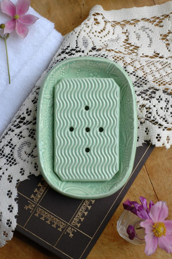 The perfect combination of beauty and function, these handmade ceramic dishes will keep your counter clean and your soap dry.
