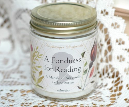 This Jane Austen inspired candle is the perfect reading buddy. Perfect with a cup of tea, this tea scented candle is soft and lovely. A wonderful Jane Austen gift for a Lady reader.