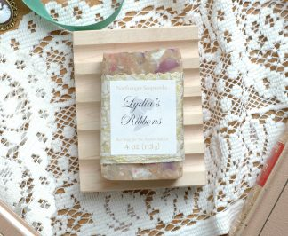 A colorful soap inspired by Lydia Bennet from Jane Austen's Pride and Prejudice. And what's more, it smells like a whole campful of soldiers!