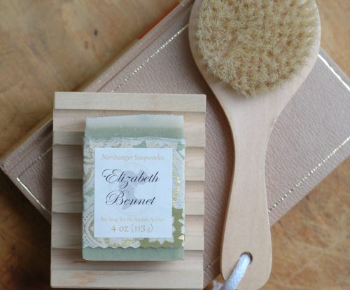 Save 15% on a bar of soap when you bundle it with our bath accessories! Inspired by Jane Austen, its the perfect bookish gift.