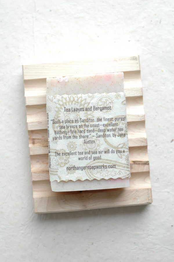 Ready to go seabathing? Sanditon inspired this exquisite artisan soap bar. Full of exfoliating walnut shell, it is gentle and so refreshing. The perfect Jane Austen gift for a Lady.