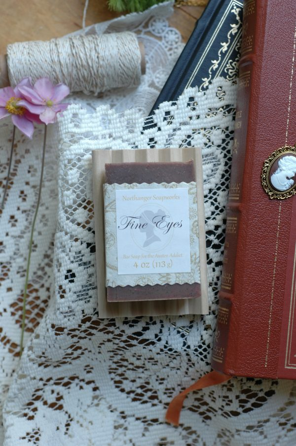 Elizabeth Bennet's fine eyes cannot be ignored by Mr. Darcy. They inspired this lovely bar soap, with a coffee and caramel scent!