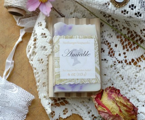 This bar soap is perfectly amiable, just as Elizabeth Bennet says about Mr. Darcy.