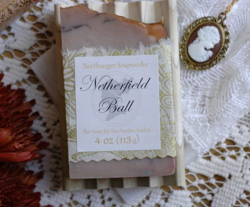 Your invitation to the Netherfield Ball has arrived! This nutmeg scented bar soap is perfect for the occasion. The perfect Jane Austen gift for a book lover.