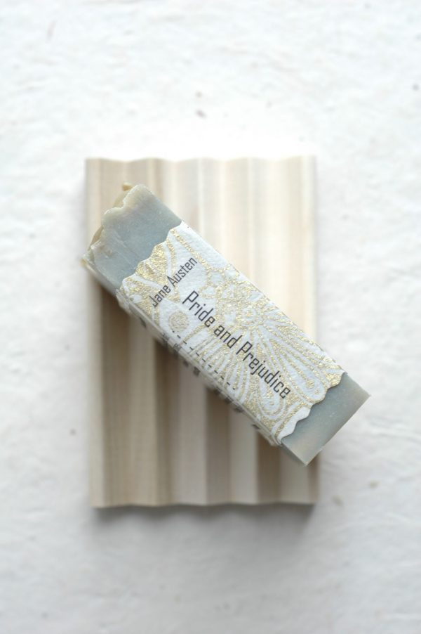 """This sandalwood bar soap is inspired by the first line of Pride and Prejudice:""""It is a truth universally acknowledged, that a single man in possession of a good fortune, must be in want of a wife."""" A lovely Jane Austen gift for a Lady."""
