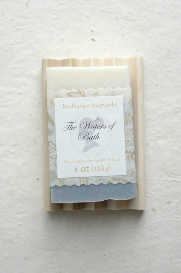 A brisk and reviving scent, this all natural artisan soap bar is inspired by the setting of Bath from the novels of Jane Austen. The water springs there were thought to have special healing properties. The perfect Jane Austen gift for a Lady!