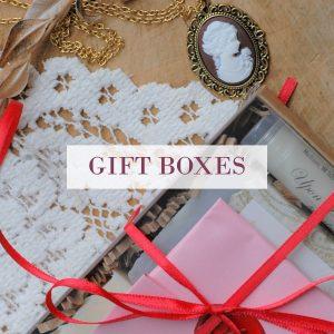 gift boxes, gift sets, and bundles